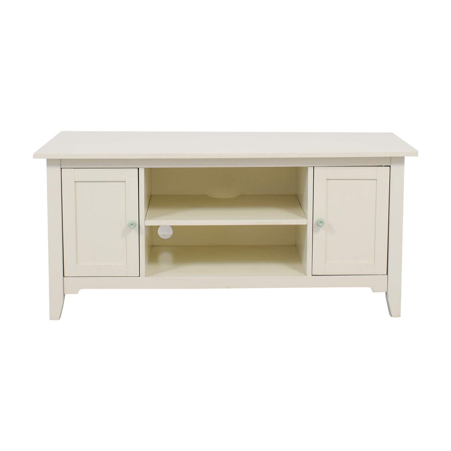 Shabby Chic White Entertainment Center coupon