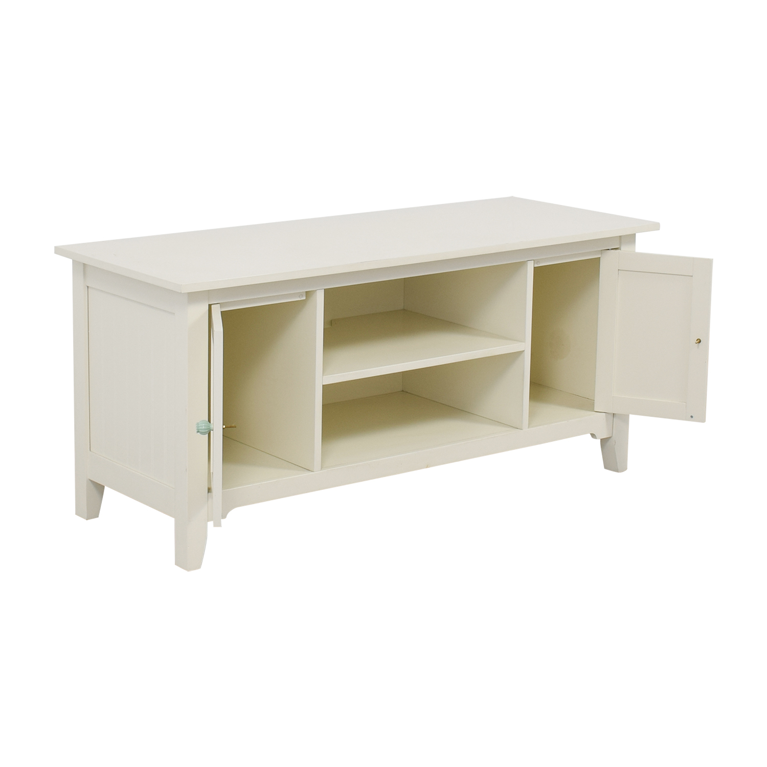Shabby Chic White Entertainment Center on sale