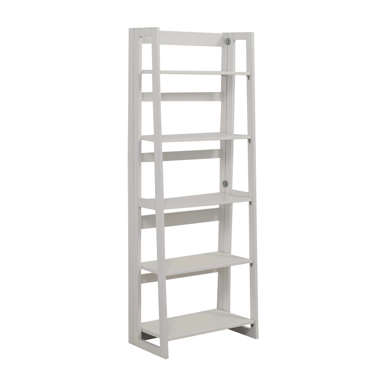 White Folding Bookshelf nj