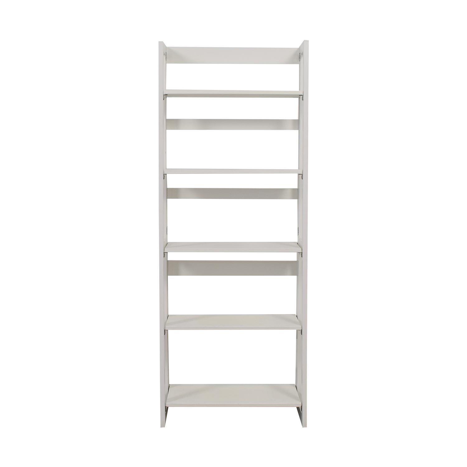 White Folding Bookshelf on sale
