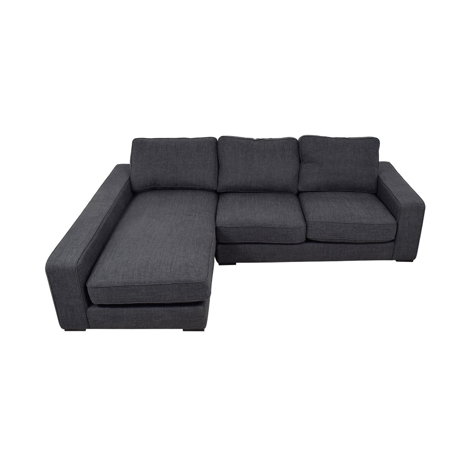 Ainsley Pebble Weave Left Chaise Sectional Dimensions