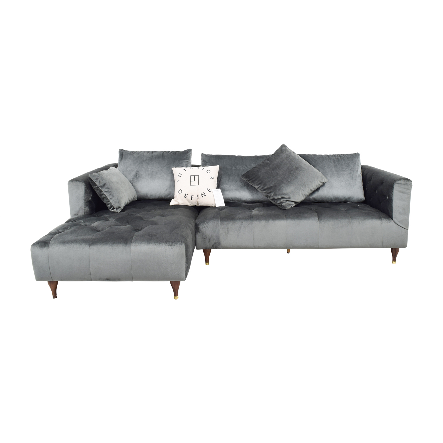 65 Off Ms Chesterfield Narwhal Left Chaise Sectional