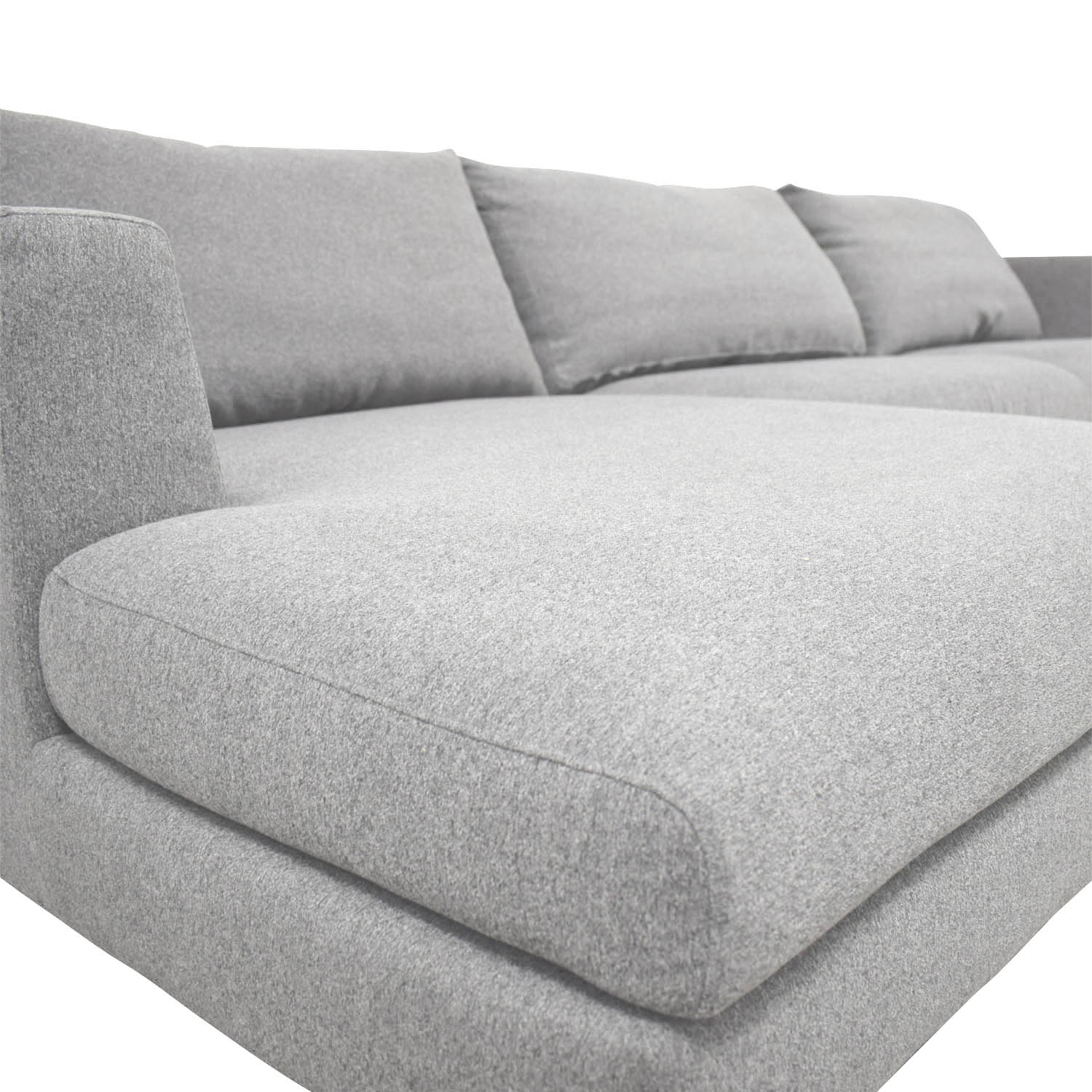 shop Asher Heather Performance Felt Left Chaise Sectional  Sectionals