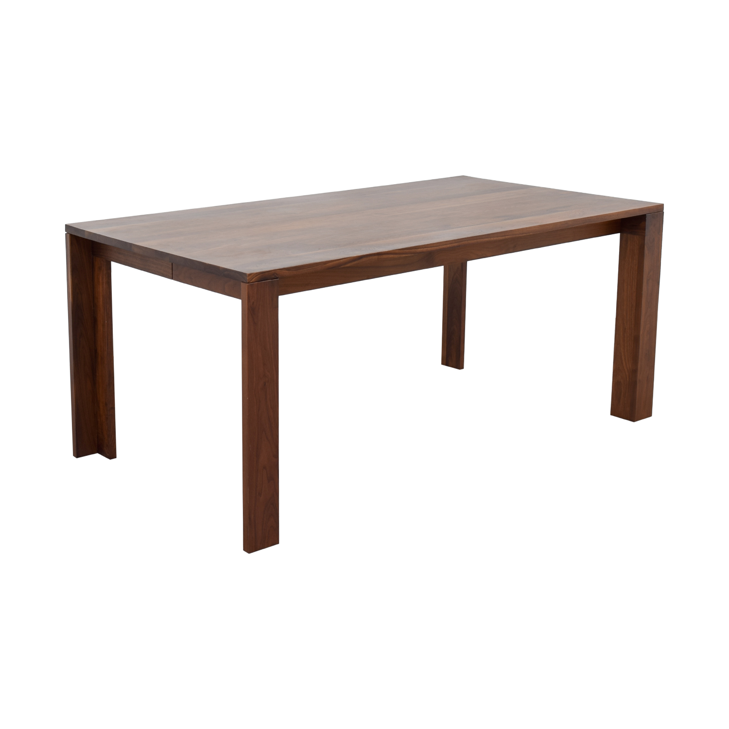 66 off design within reach dwr solid walnut dining table tables. Black Bedroom Furniture Sets. Home Design Ideas