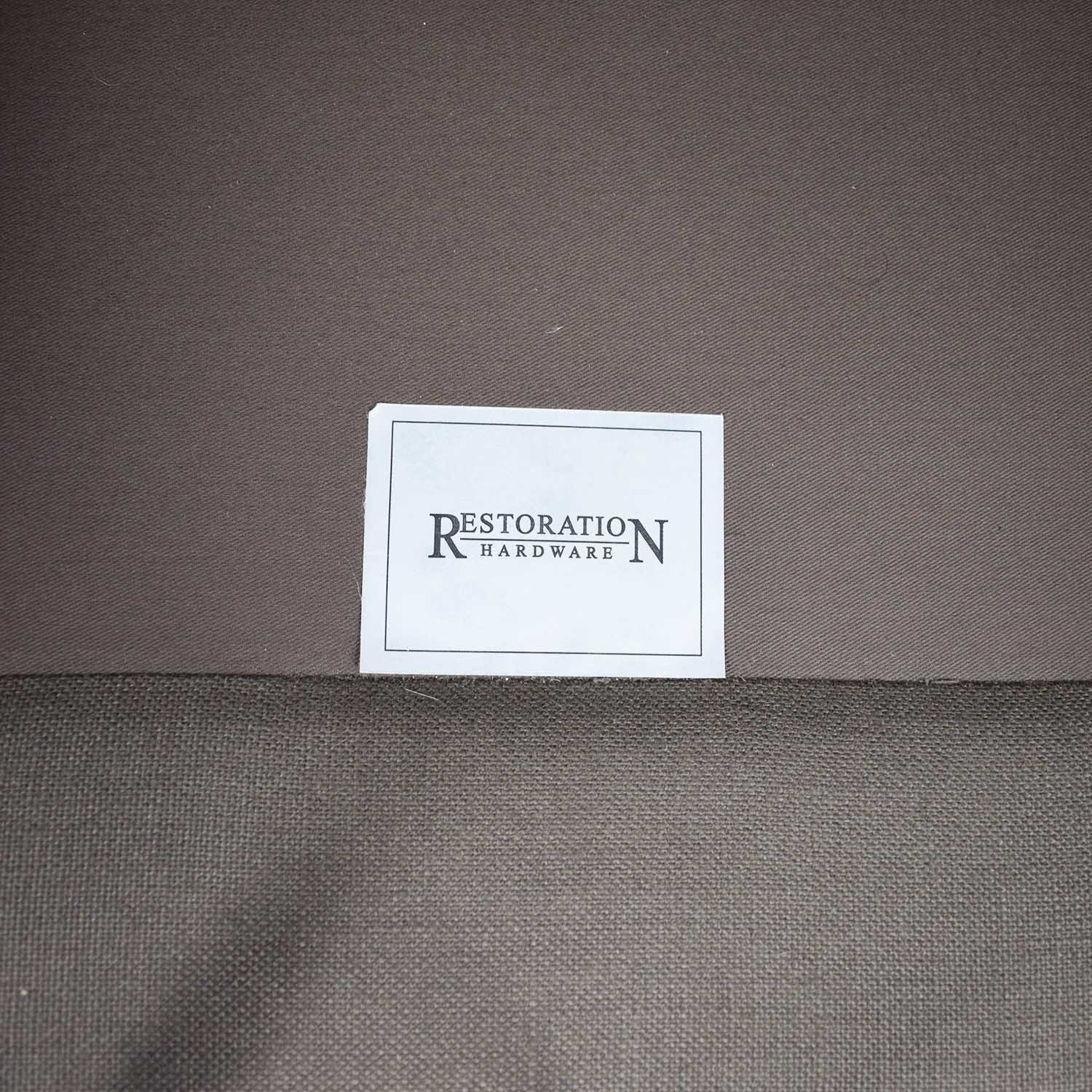 buy Restoration Hardware Restoration Hardware Brown Three-Cushion Cloud Fabric Couch online