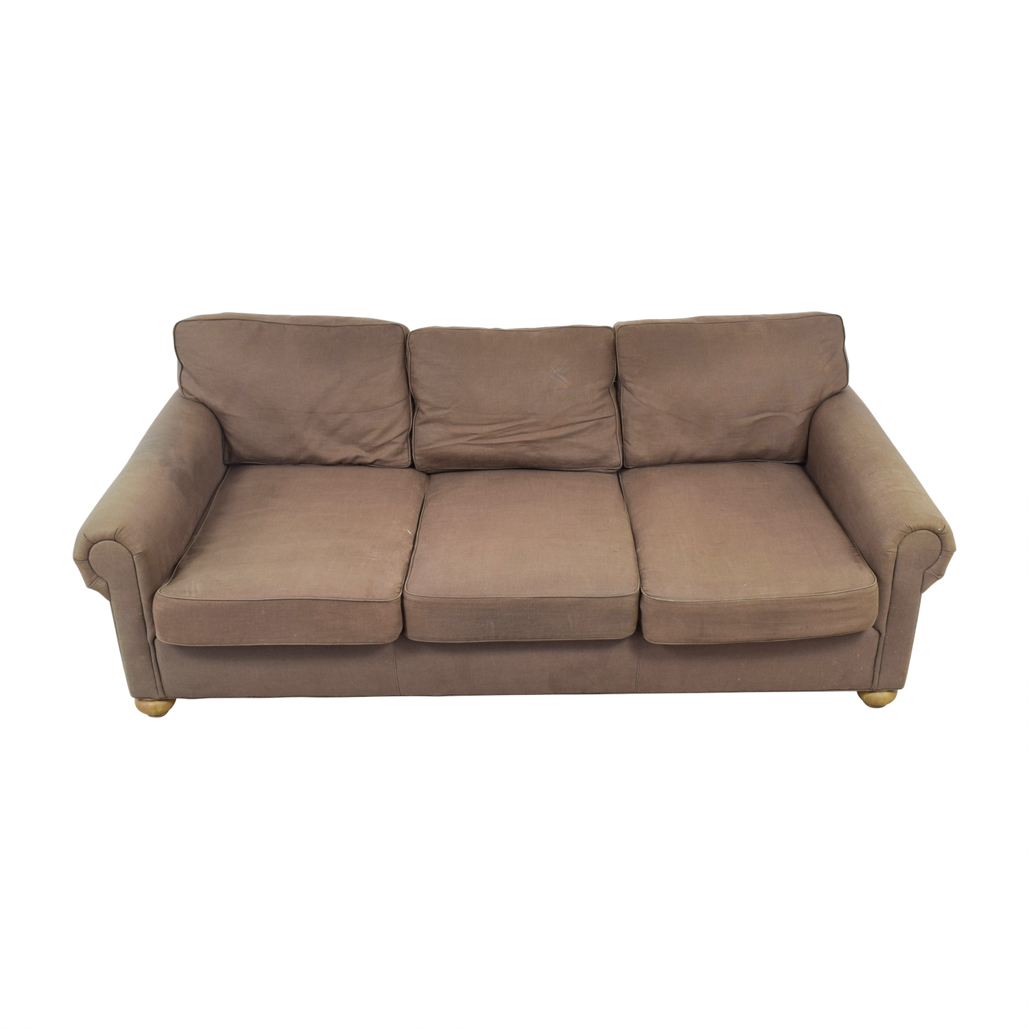 Restoration Hardware Restoration Hardware Brown Three-Cushion Cloud Fabric Couch price