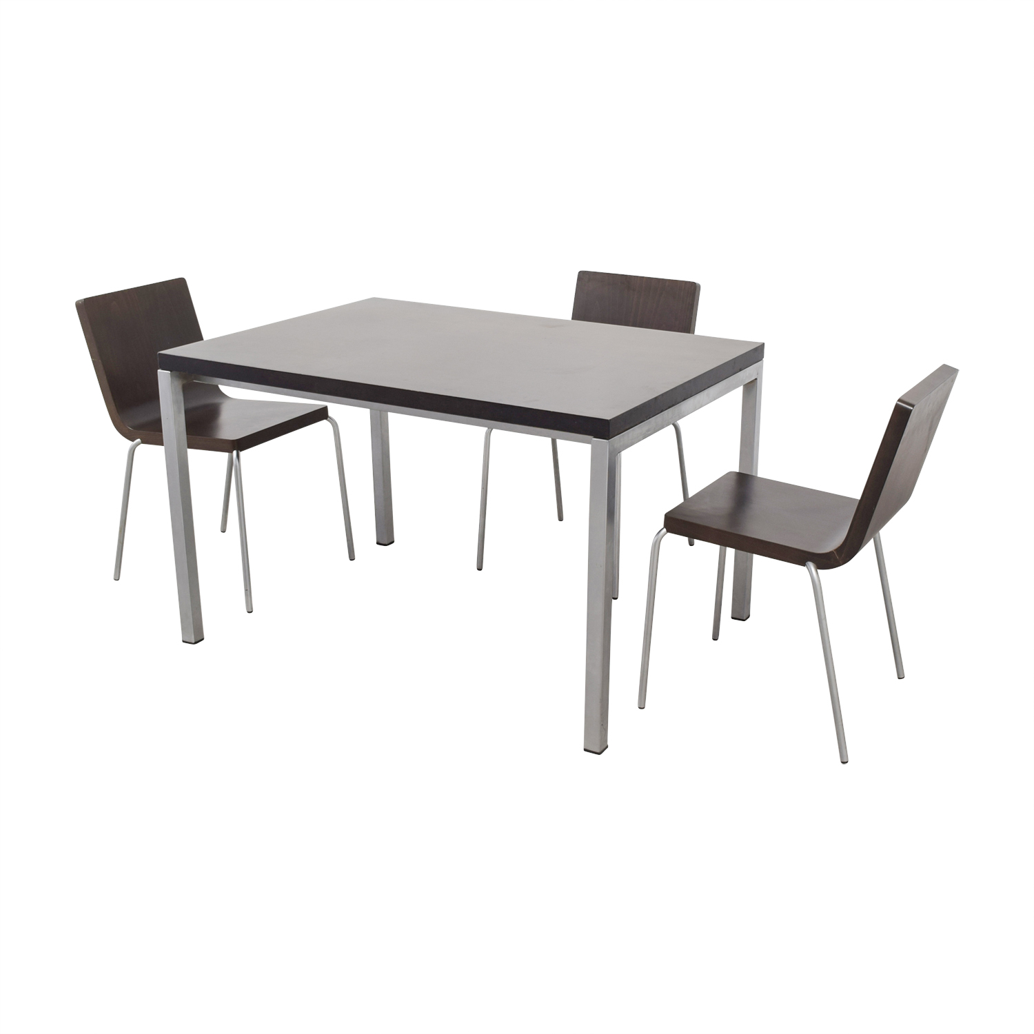 Wood and Metal Dining Set used