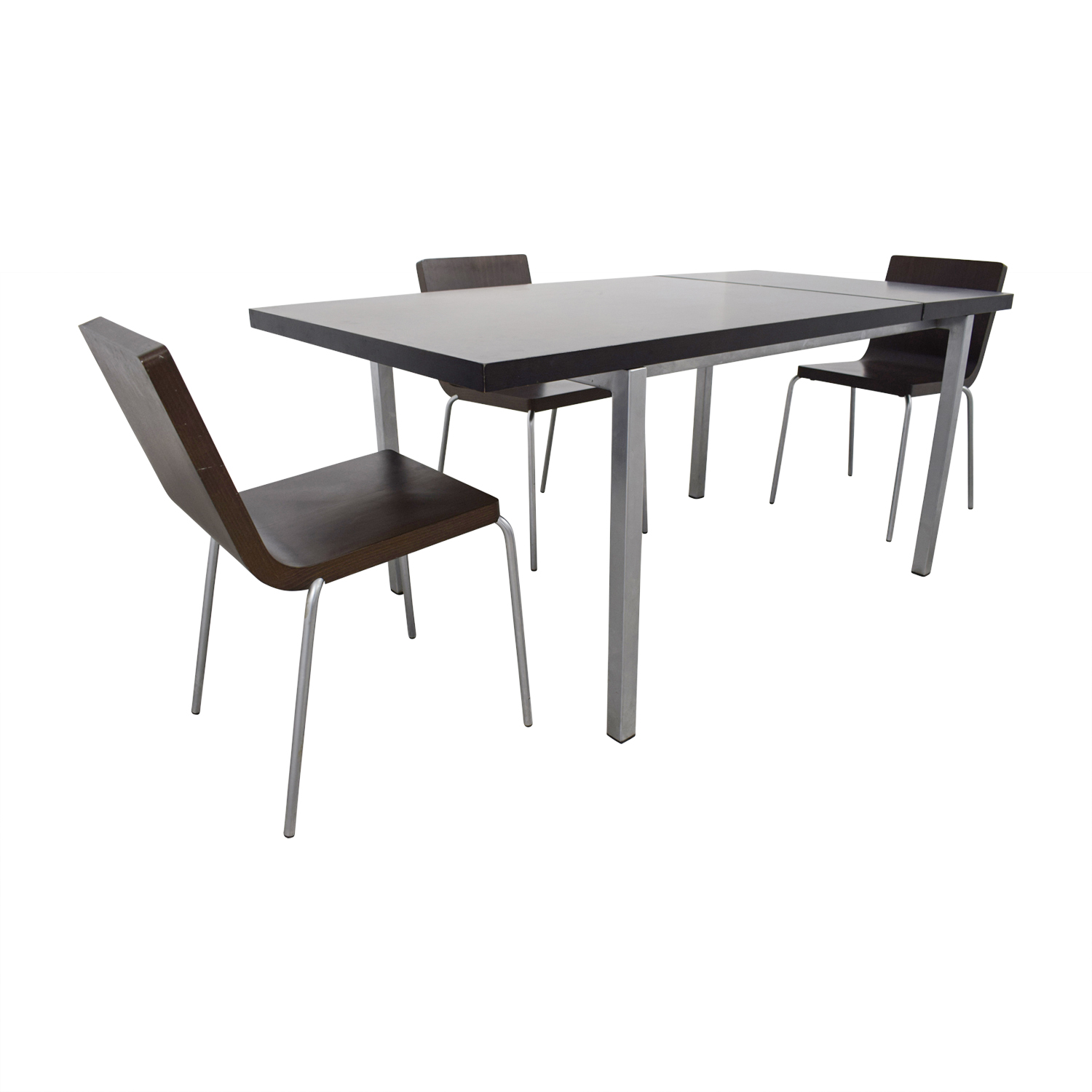 Wood and Metal Dining Set Tables