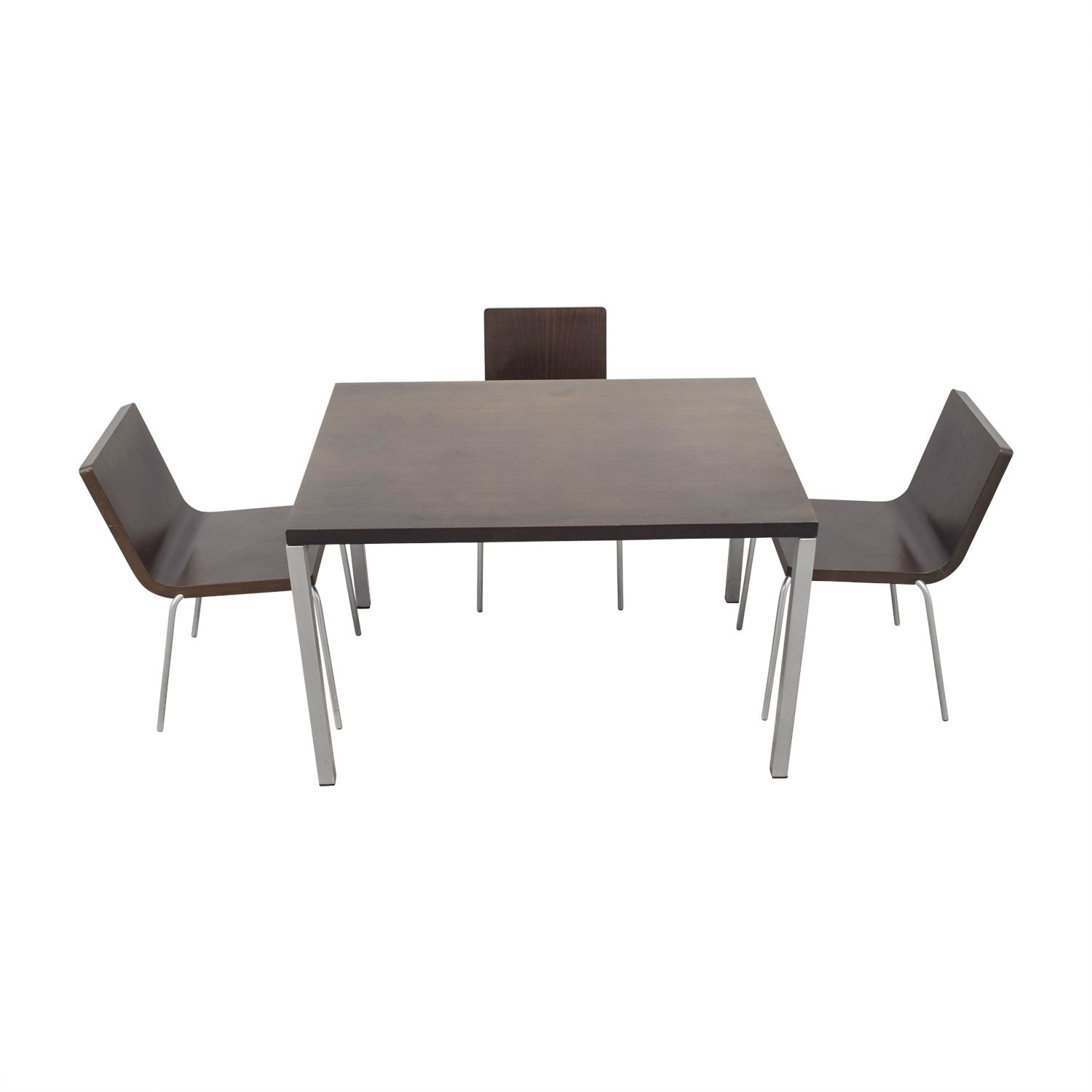 Wood and Metal Dining Set on sale