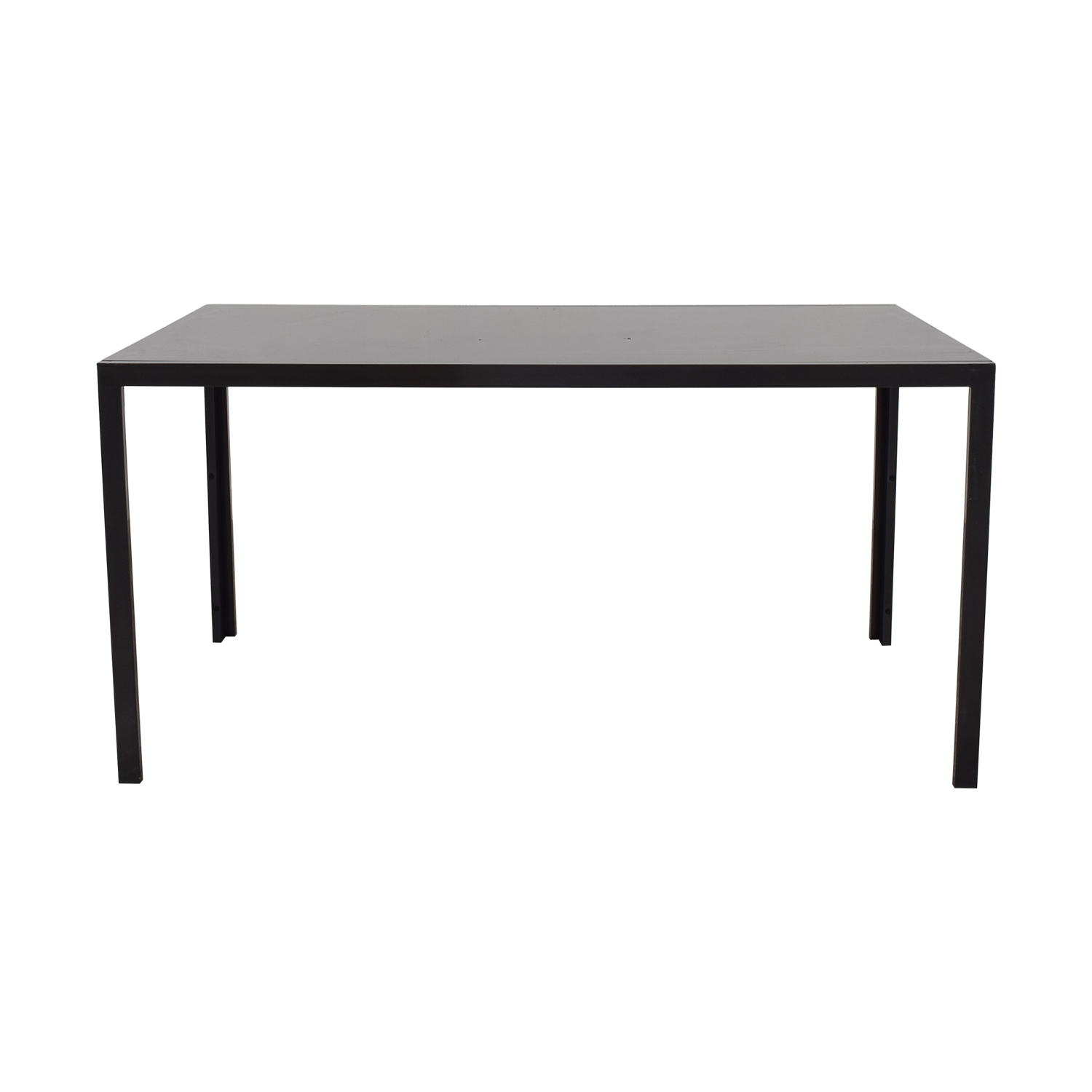 shop AllModern Dark Glass Top Dining Table AllModern