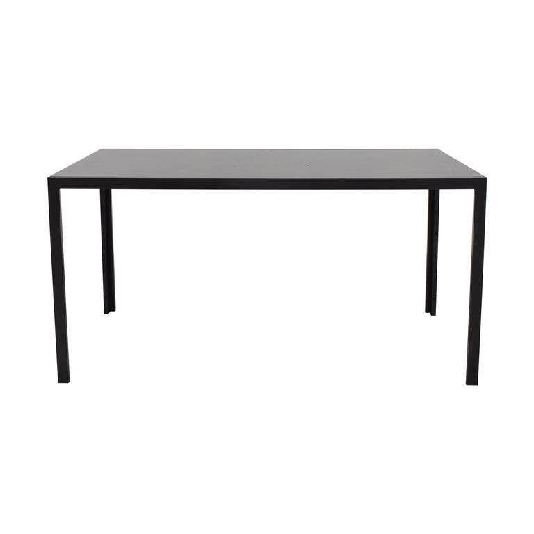 buy AllModern AllModern Dark Glass Top Dining Table online
