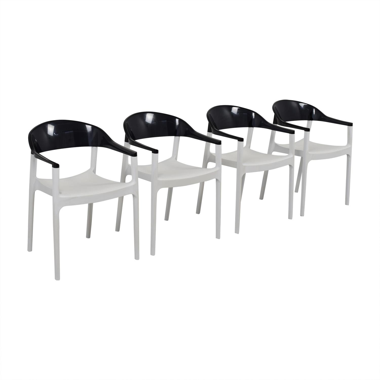 Siesta Carmen Black And White Modern Chairs Siesta