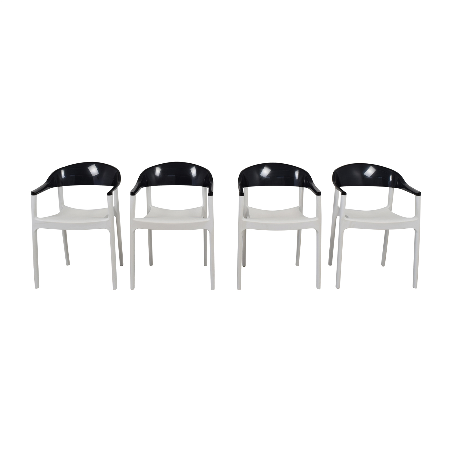 buy Siesta Carmen Black and White Modern Chairs Siesta