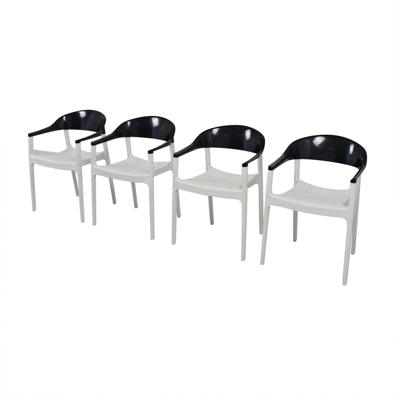 Siesta Siesta Carmen Black And White Modern Chairs Dimensions