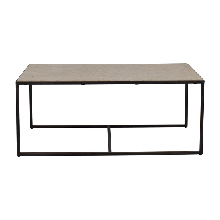 Stone Top Industrial Coffee Table price