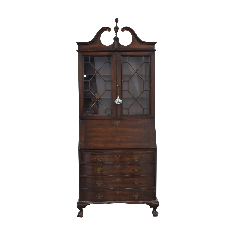 Antique Wood and Glass Secretary Desk sale
