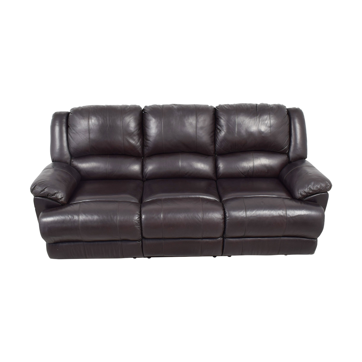Ashley Furniture Ashley Furniture Black Leather Reclining Couch on sale