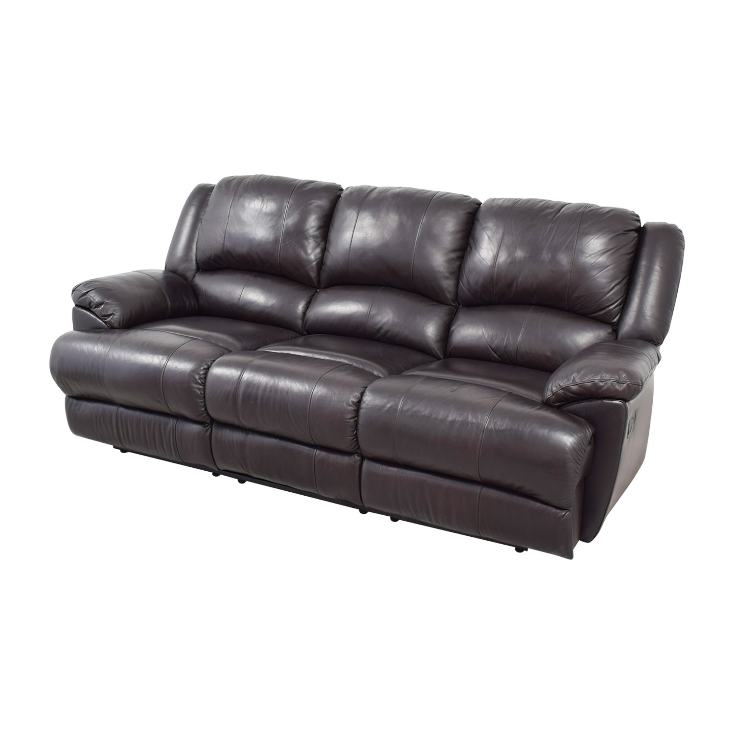Black Leather Sofa With Recliner: Ashley Furniture Ashley Furniture Black Leather