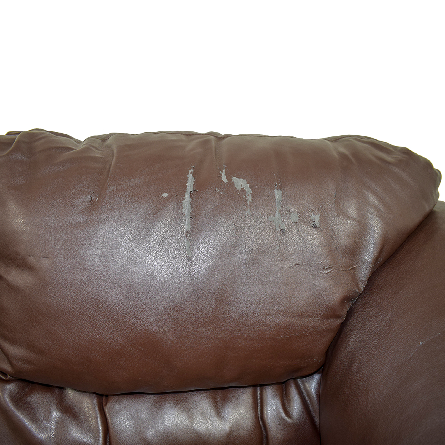 buy Brown Faux Leather Love Seat  Loveseats