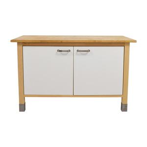 IKEA Kitchen Butcher Block and White Cabinet IKEA