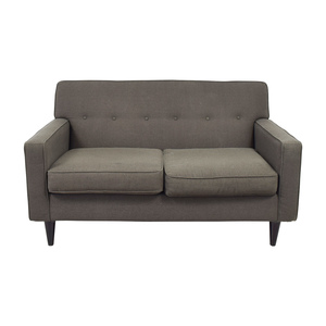 Max Home Grey Mid Century Loveseat Max Home