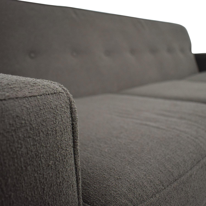 shop Max Home Mid Century Brown Three Cushion Sofa Max Home Sofas