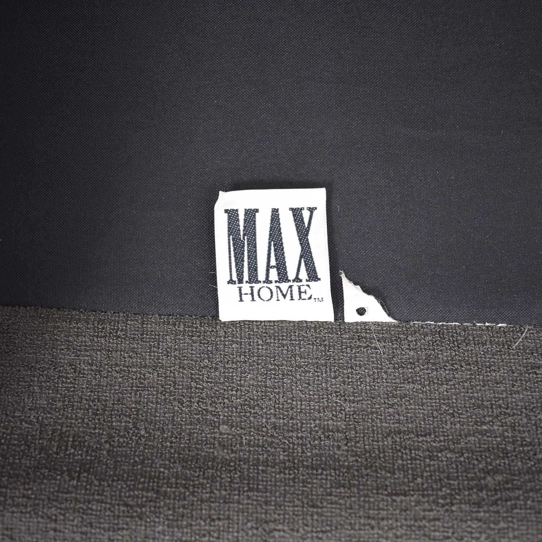 Max Home Max Home Mid Century Brown Three Cushion Sofa for sale