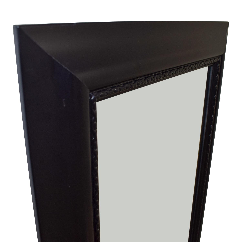Black Framed Hanging Door Mirror sale