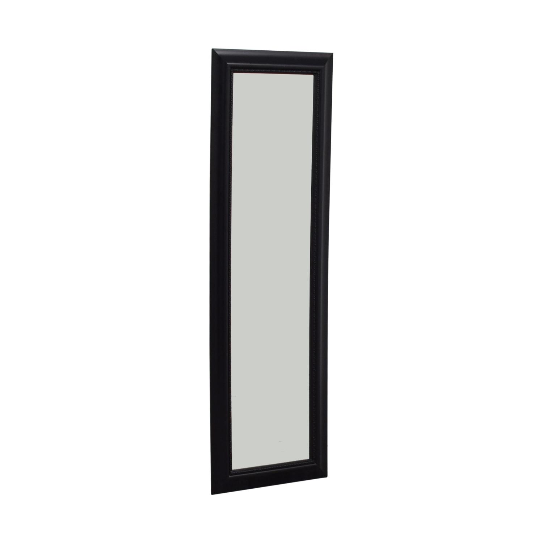 shop Black Framed Hanging Door Mirror  Decor