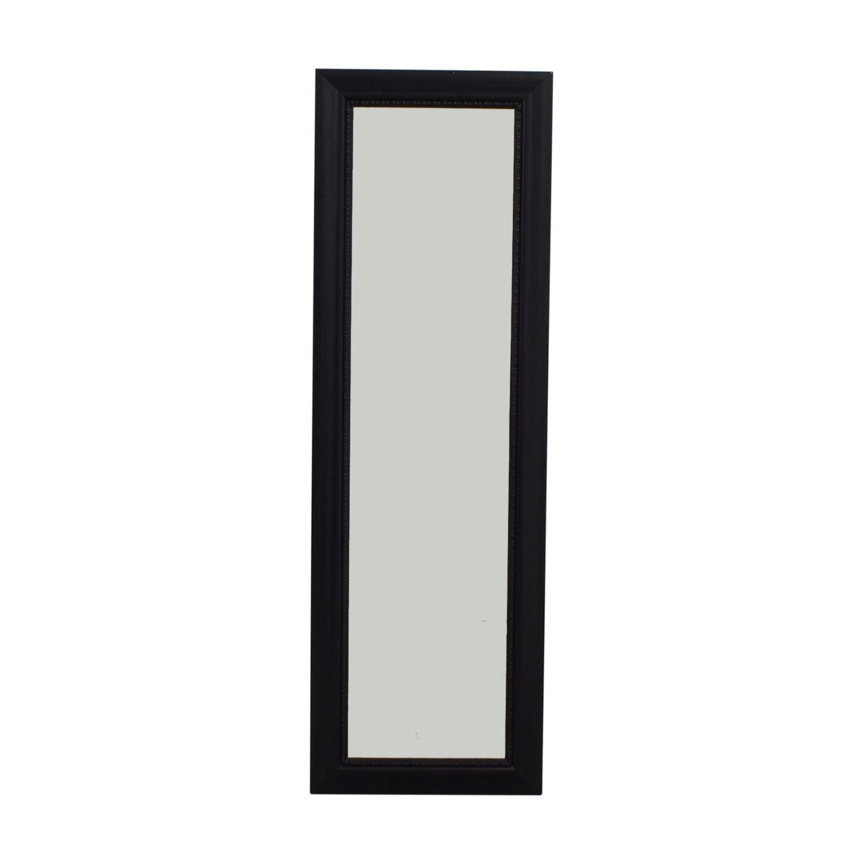 shop Black Framed Hanging Door Mirror