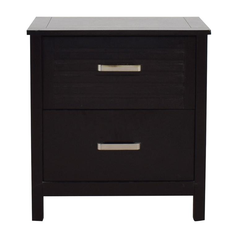 buy Chuanheng Furniture Chuanheng Furniture Black Two-Drawer Nightstand online