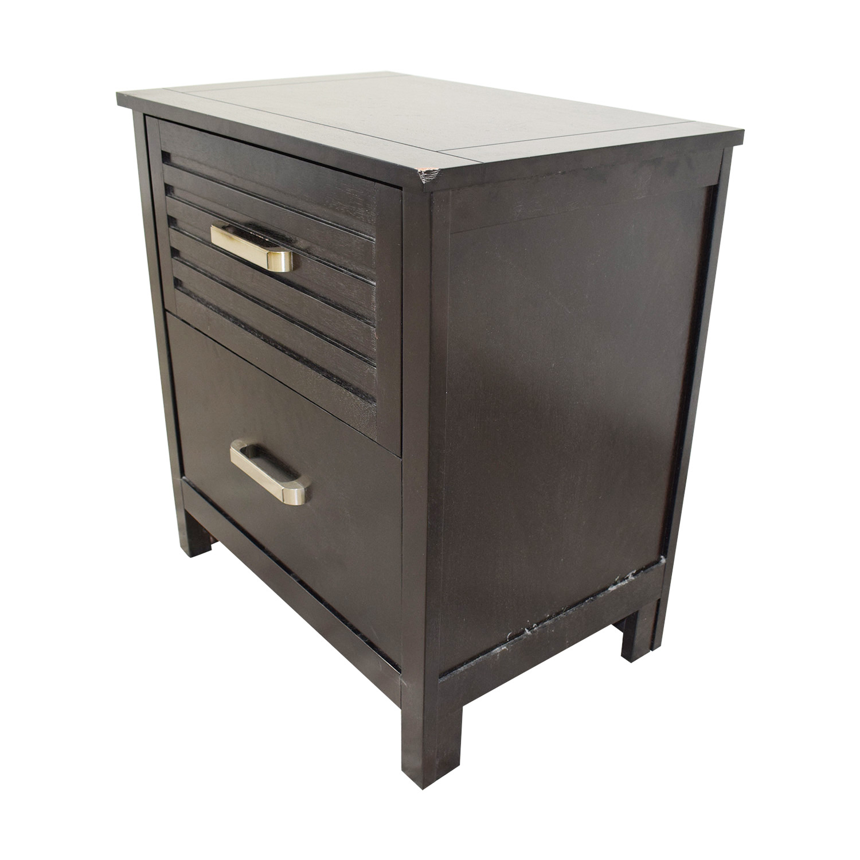Chuanheng Furniture Chuanheng Furniture Black Two-Drawer Nightstand discount
