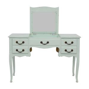shop Davis Cabinet Company Davis Cabinet Company Aqua Desk or Vanity with Mirror online