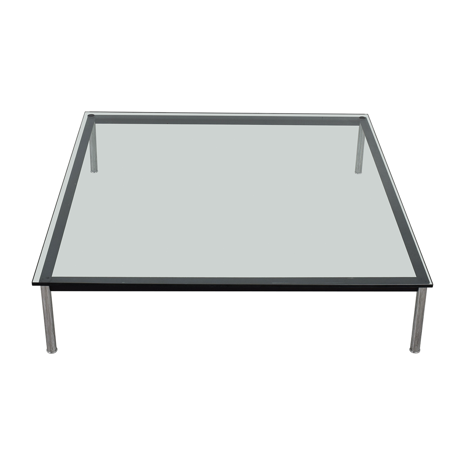 shop B & B Italia Nickel and Glass Coffee Table B & B Italia Coffee Tables