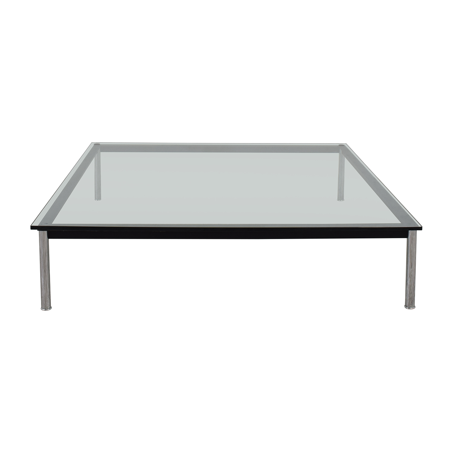 shop B & B Italia Nickel and Glass Coffee Table B & B Italia Tables