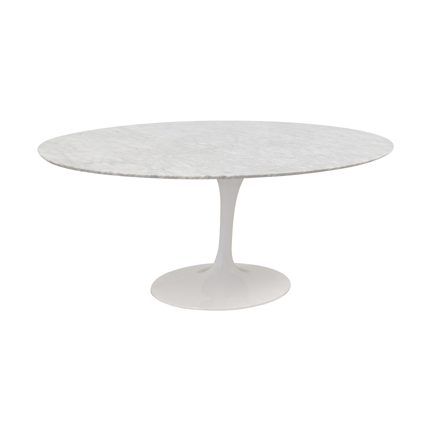 Tulip Oval Table In White Marble Coffee Tables