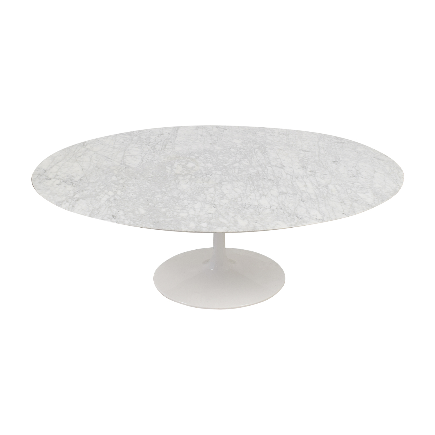 shop Tulip Oval Table in White Marble  Tables