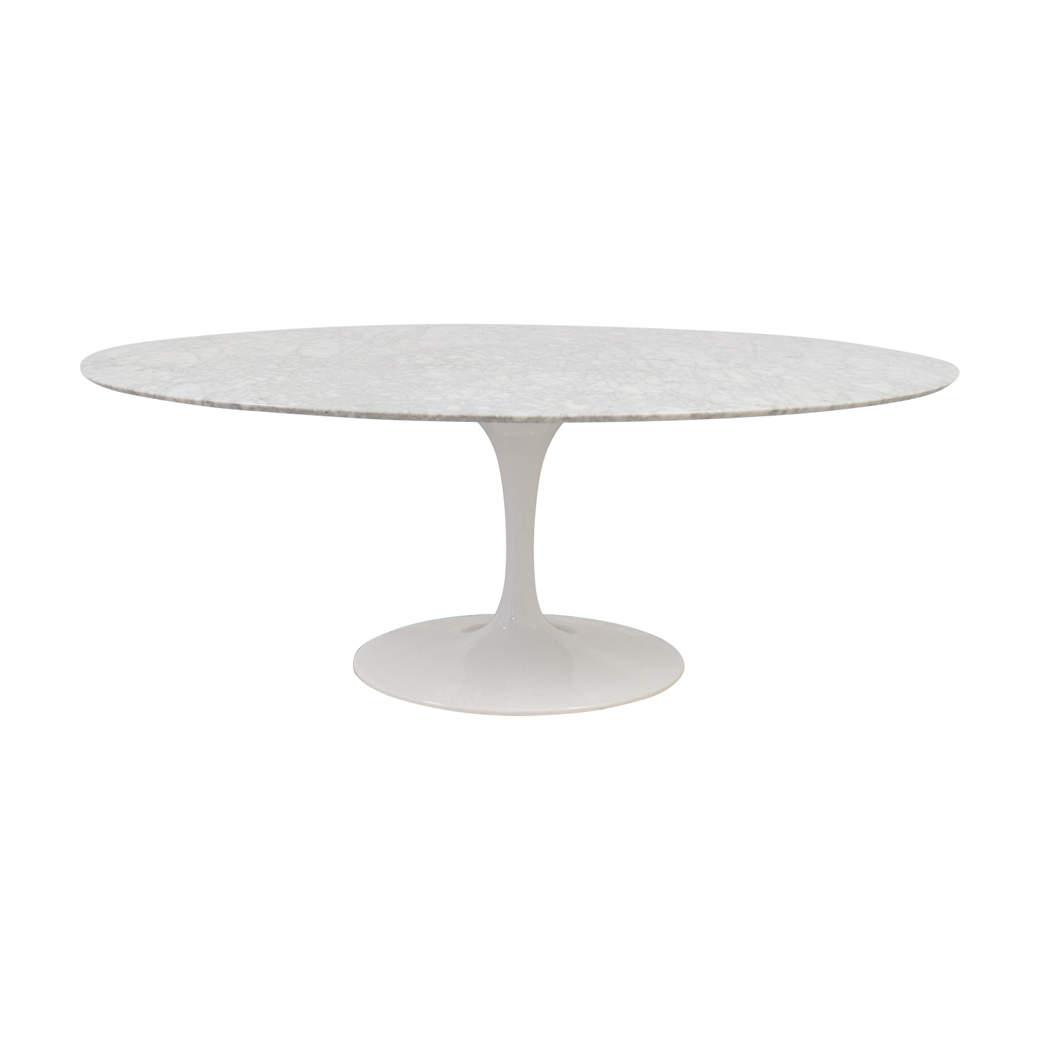 shop Tulip Oval Table in White Marble  Coffee Tables