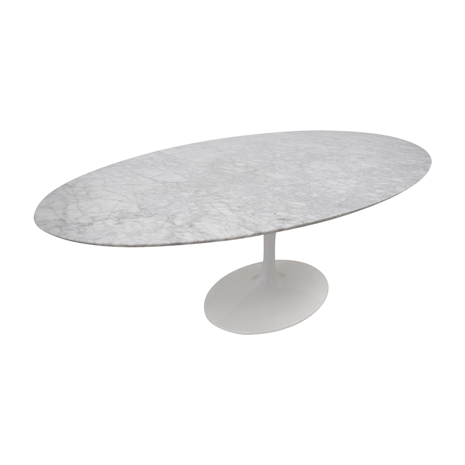 Tulip Oval Table in White Marble price
