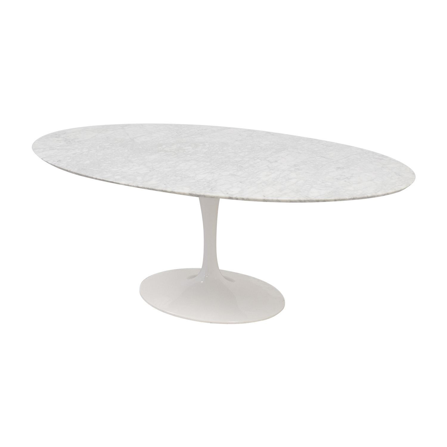 Tulip Oval Table in White Marble used