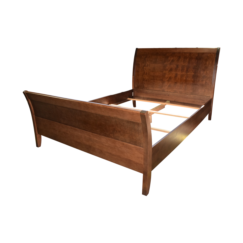 90 Off Jensen Lewis Jensen Lewis Baronet Java Mahogany Sleigh Queen Bed Frame Beds