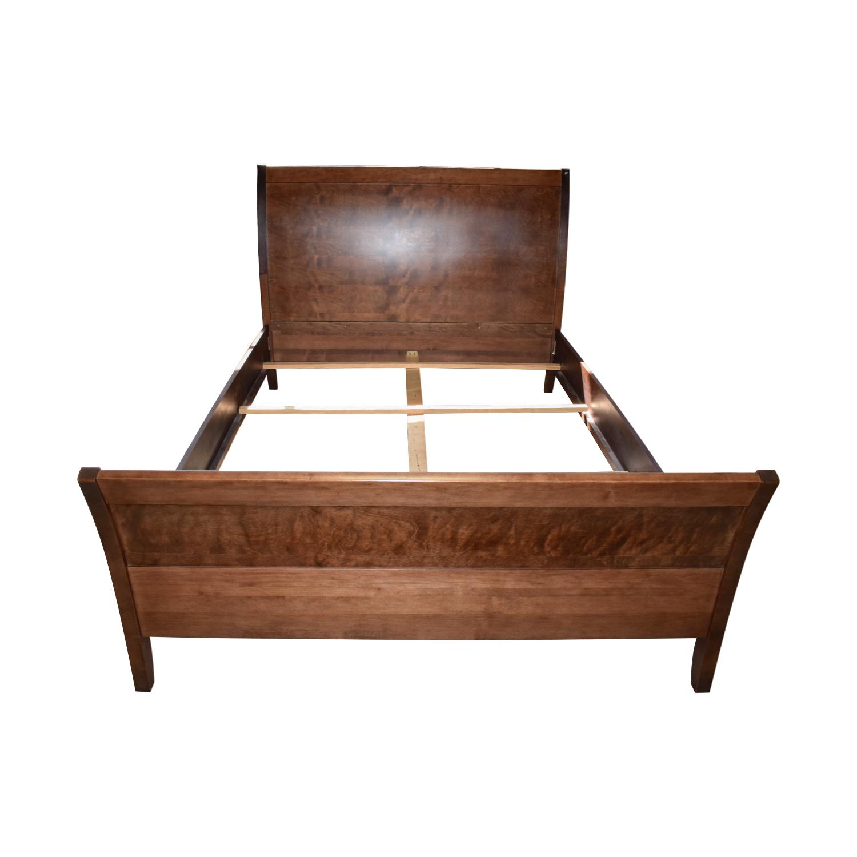 Jensen Lewis Jensen Lewis Baronet Java Mahogany Sleigh Queen Bed Frame for sale