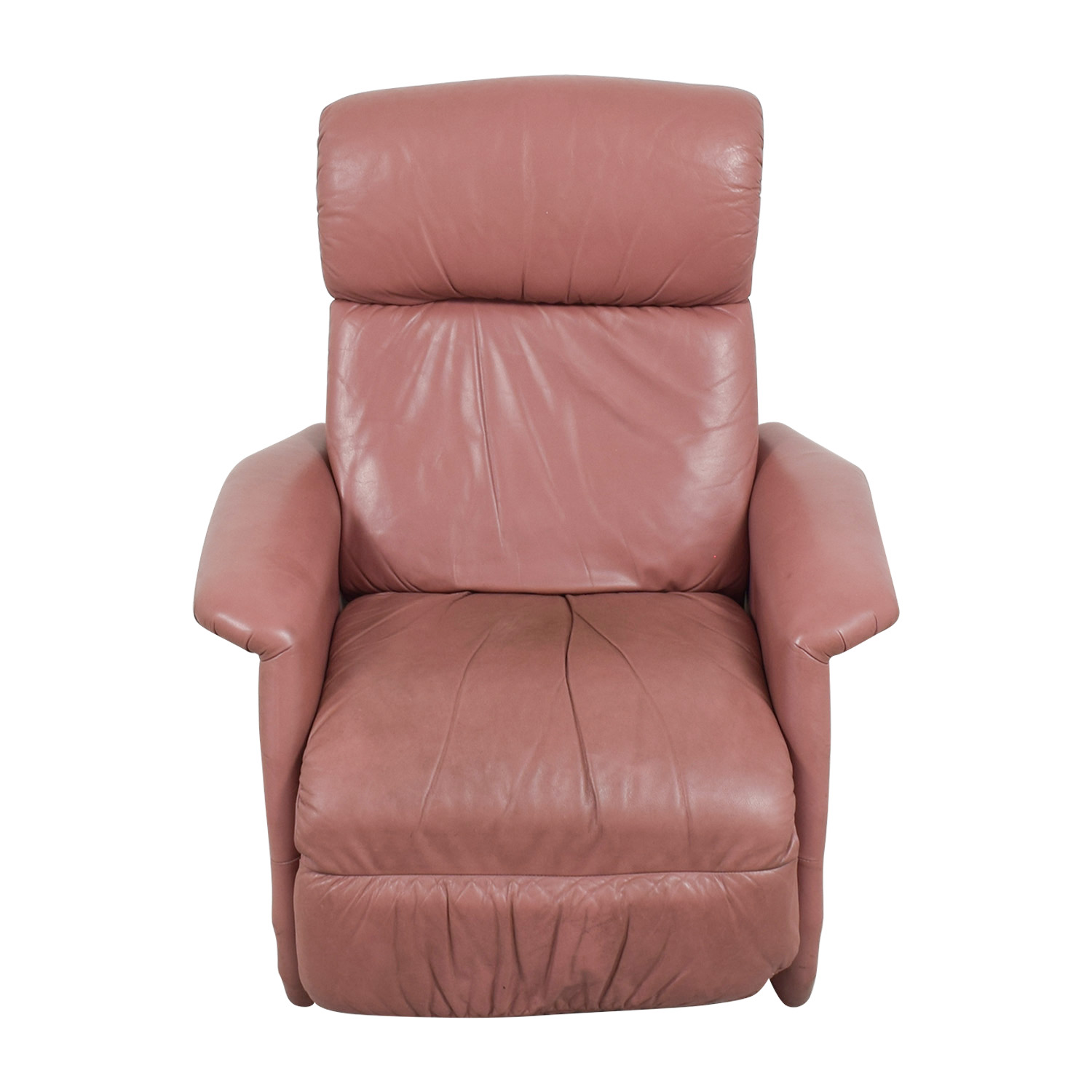 buy  Salmon Leather Recliner online