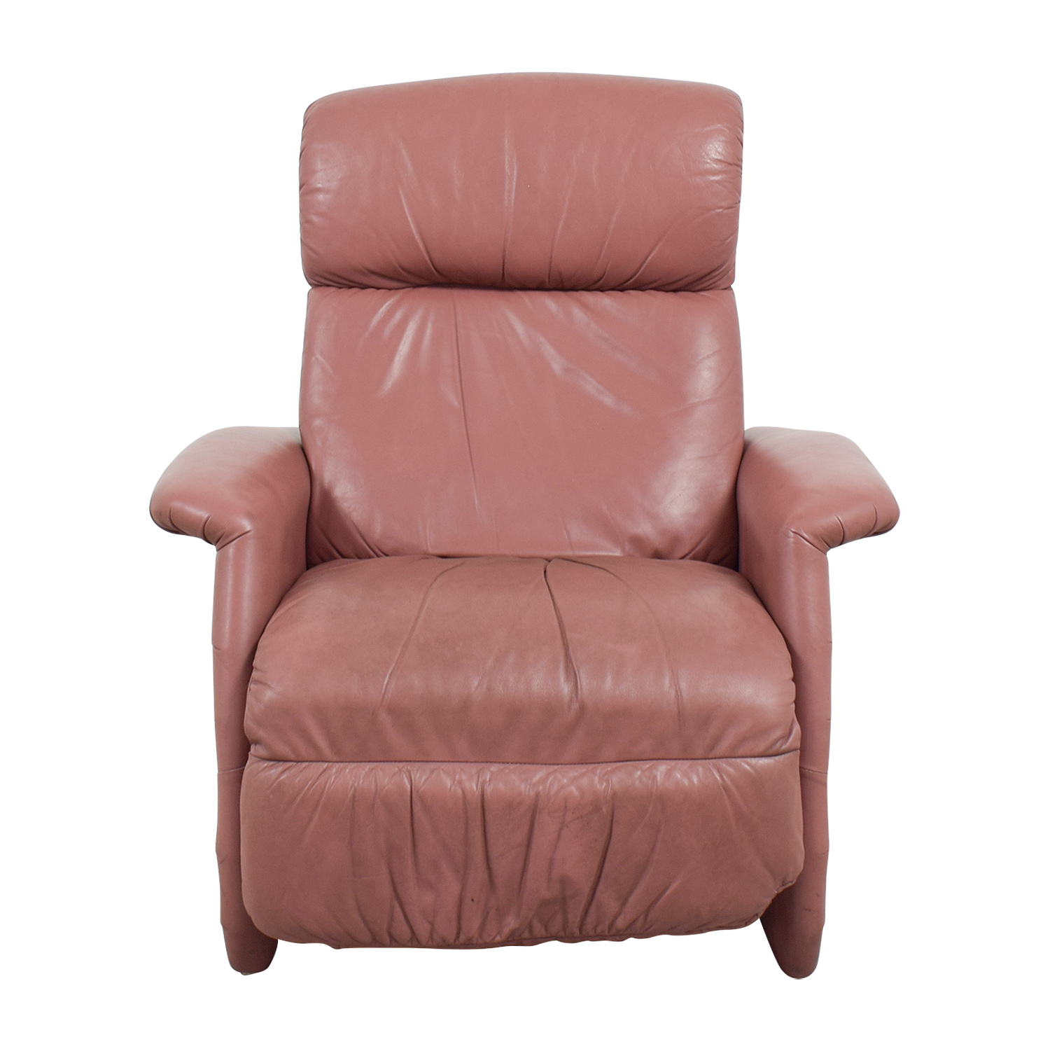 Salmon Leather Recliner nj