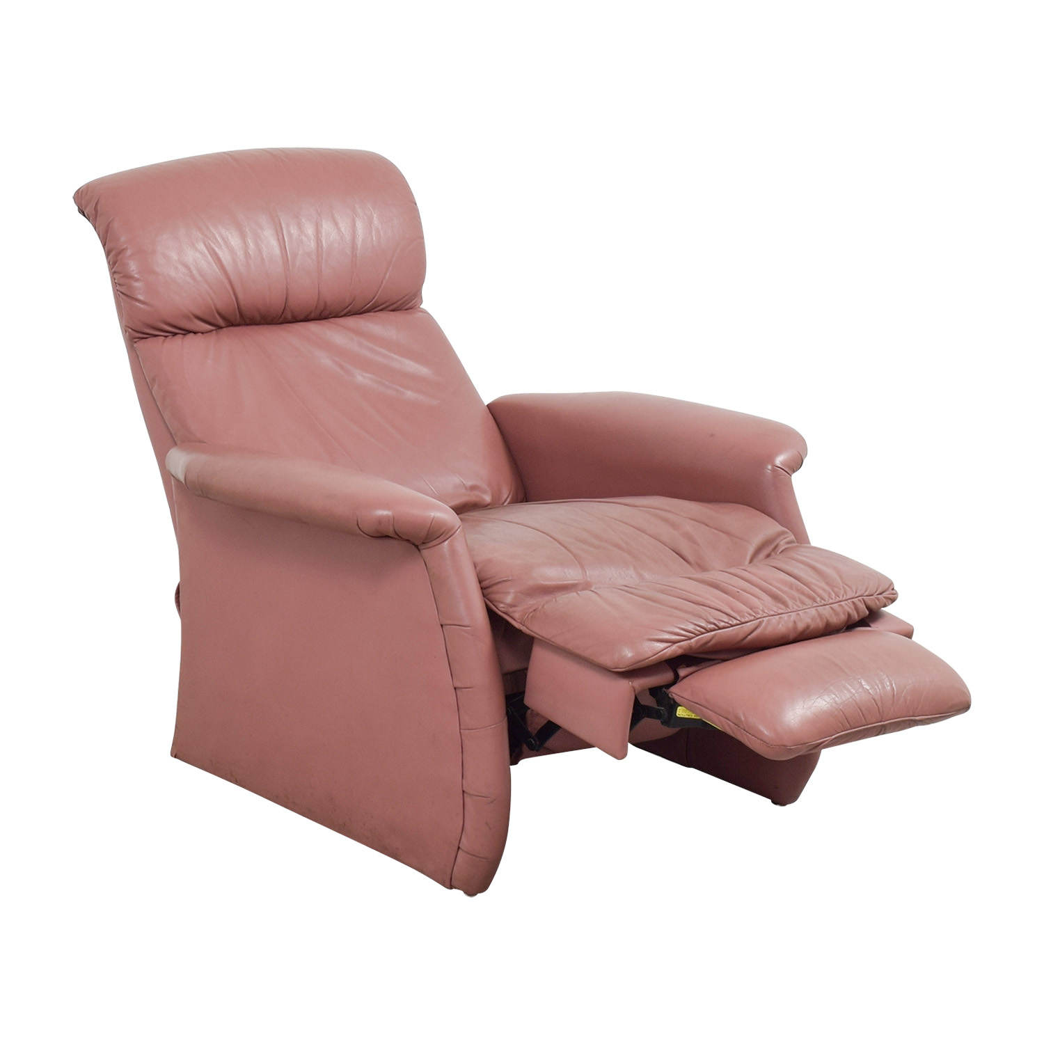 Salmon Leather Recliner on sale