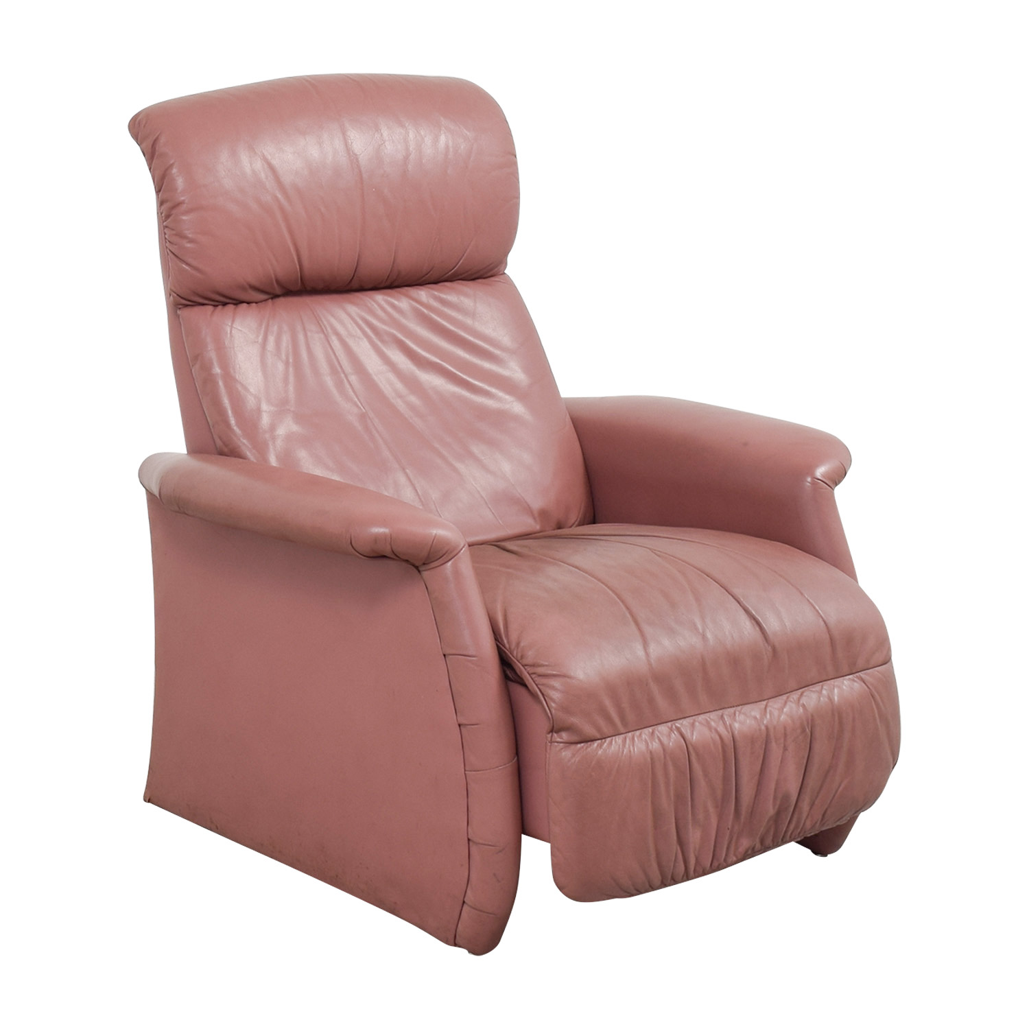 Salmon Leather Recliner Chairs