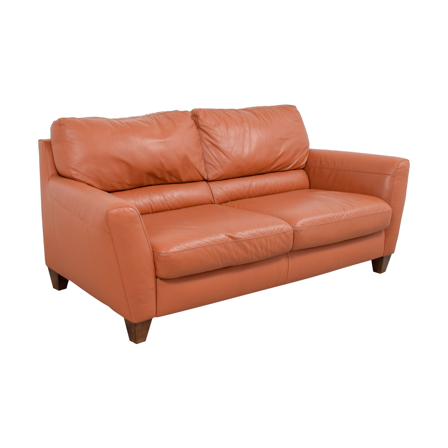 76 Off Natuzzi Natuzzi Amalfi Burnt Orange Leather Sofa