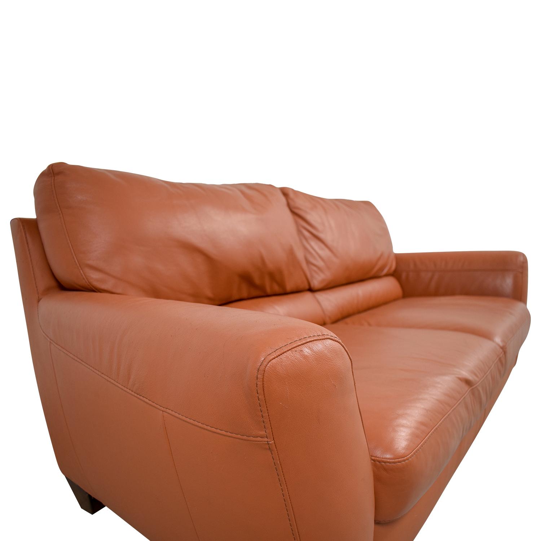 76 Off Natuzzi Natuzzi Amalfi Burnt Orange Leather Sofa