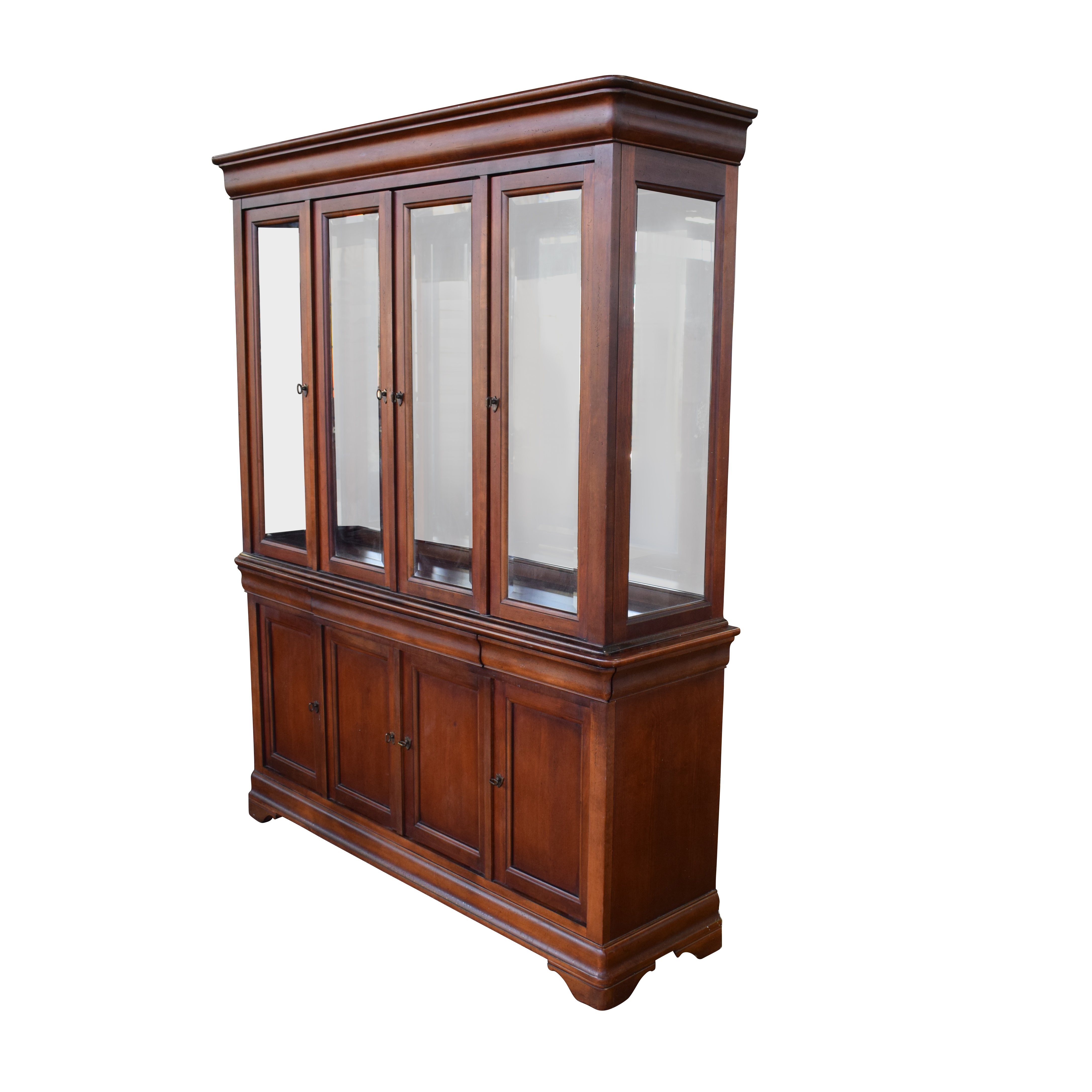 shop National Mount Airy Wood China Cabinet National Mount Airy Sofas