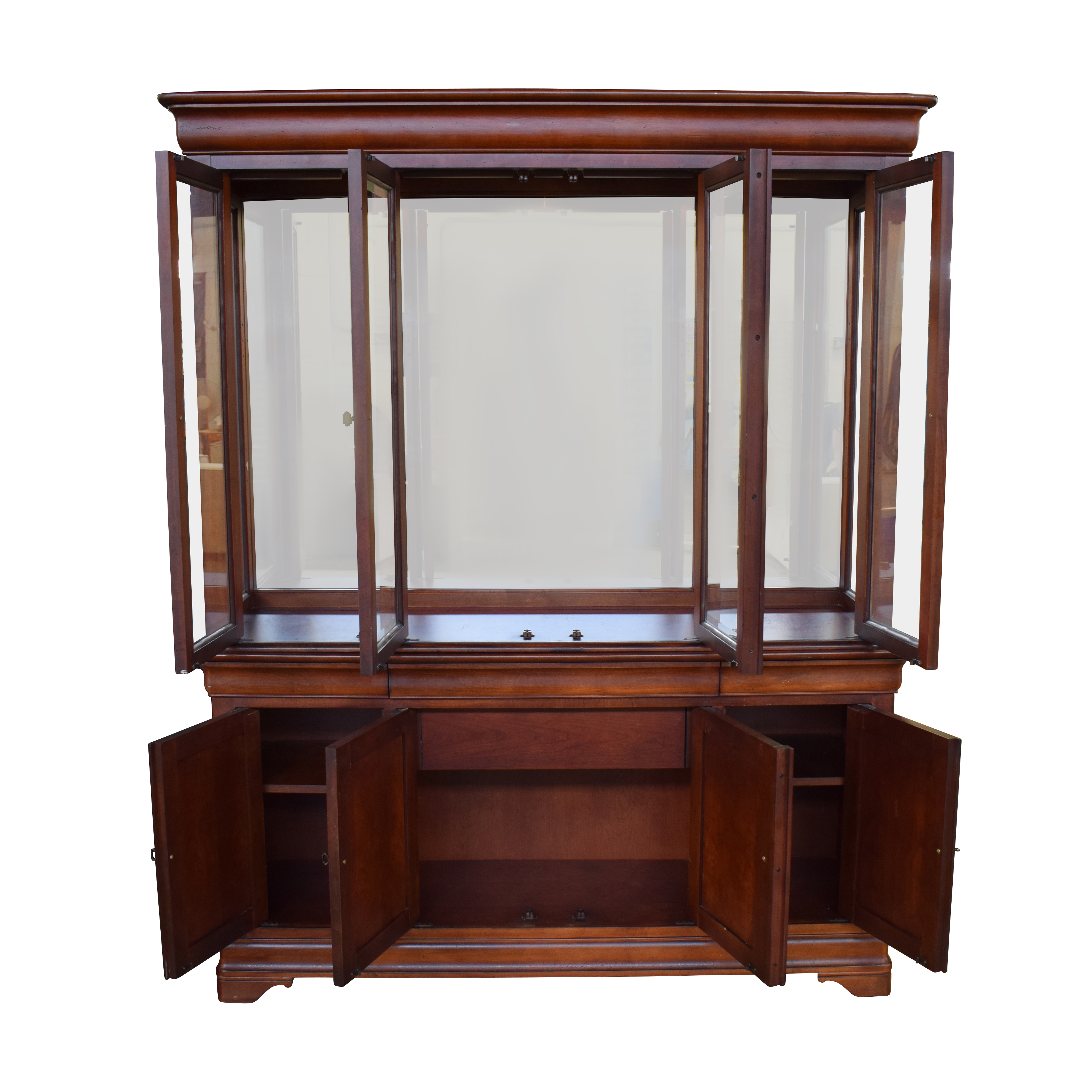 ... National Mount Airy Wood China Cabinet National Mount Airy
